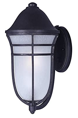 Maxim 34205WPAT Westport DC 1-Light Outdoor Wall, Artesian Bronze Finish, Wisp Glass, MB Incandescent Incandescent Bulb , 9W Max., Wet Safety Rating, 3000K Color Temp, Shade Material, 800 Rated Lumens