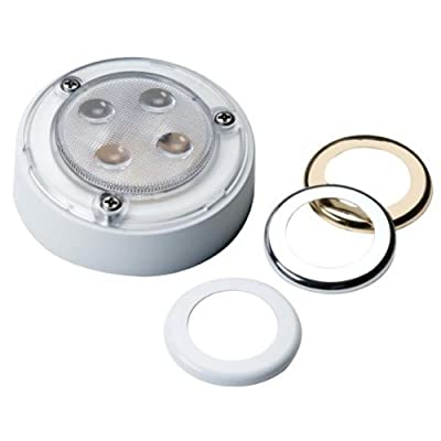 "Innovative Lighting 4-Led 3"" Round Interior Light - Chrome & Gold Trim Rings from Innovative Lighting"