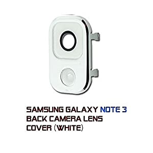 RVOUSA_Samsung Galaxy Note 3 Rear Camera Frame Cover + Glass Lens Replacement White