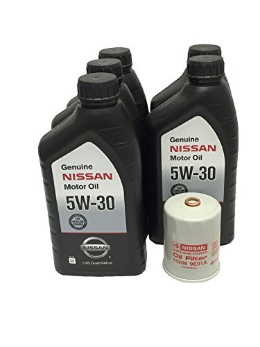 Genuine Nissan 5W-30 Oil Change Kit 5 Quarts 15208-9E01A (Best Synthetic Oil For Nissan Altima)