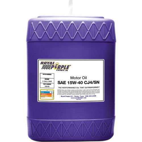 Royal Purple 05540 API-Licensed SAE 5W-40 High Performance Synthetic Motor Oil - 5 gal. by Royal Purple