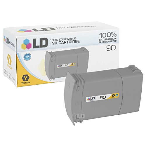 LD Remanufactured Ink Cartridge Replacement for HP 90 C5065A High Yield (Yellow) (Hp Designjet 4000ps)