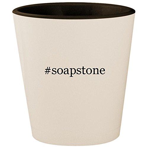 #soapstone - Hashtag White Outer & Black Inner Ceramic 1.5oz Shot Glass