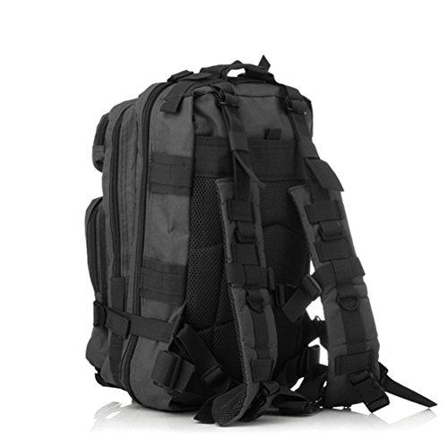 WINOMO Rucksack Rucksack Reise Wandertasche Mountain Warehouse Outdoor Trekking Camping Pack Herren Combat20-35L(Schwarz)