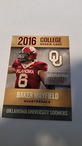 Baker Mayfield 2016 Rookie Card Oklahoma Sooners