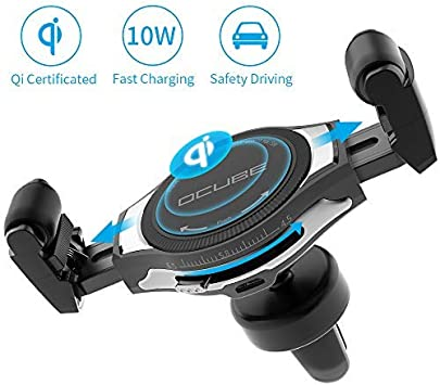 Amazon.com: Cargador inalámbrico para coche con rejilla de ...