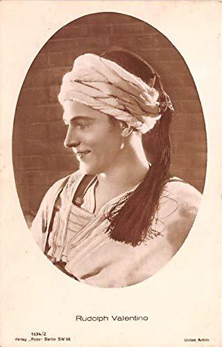 Rudolph Valentino Movie Star Actor Actress Film Star Postcard, Old Vintage Antique Post Card Unused ()
