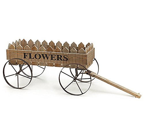 Burton Wood wagon with picket fence sides and metal wheel...