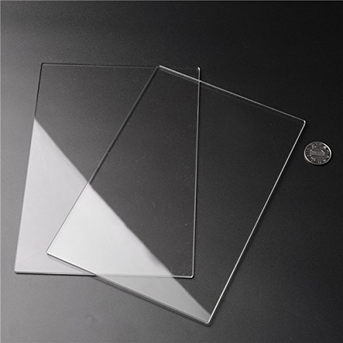 2pcs 225x155x3mm Acrylic Sheets Transparent Acrylic Sheets