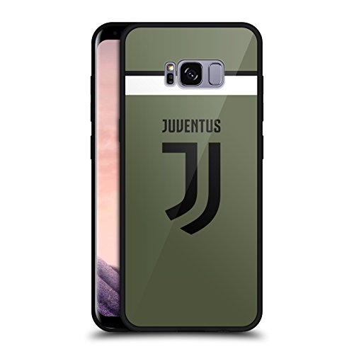 Official Juventus Football Club Third 2017/18 Race Kit Black Hybrid Glass Back Case for Samsung Galaxy S8