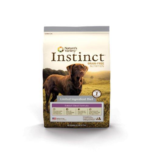 Nature's Variety 769949653226 Instinct Grain-Free Limited Ingredient Diet Rabbit Meal Dry Dog Food Bag, 4.4-Pound, My Pet Supplies