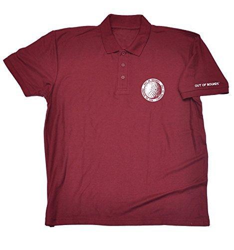 123t Herren Polo Shirt mit Brusttasche Ball Motiv - XX-Large, Kastanienbraun