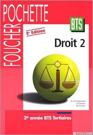 En ligne DROIT BTS TERTIAIRES 2EME ANNEE. 2ème édition pdf
