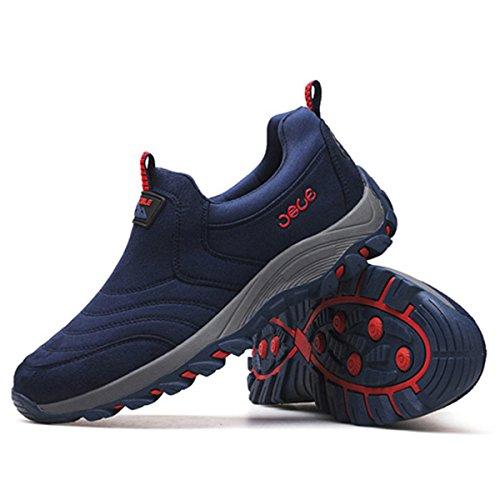 Gracosy Slip Op Sneaker, Mannen Buiten Wandelen Toevallige Tennisschoenen Schokabsorptie Non-slip Schoenen Donkerblauw