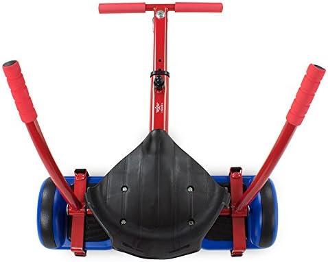 TANGO Hoverkart Go-Kart Kit Patinete Eléctrico, Longitud Ajustable, Compatible 100% con Hoverboards - Hoverboard No Incluido (Rojo)