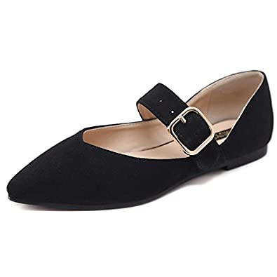 c21dc5840e7 LEIT YFF Female Shoes Comfortable Velvet Face With Pointed Wear-Resistant  Flat Bottom Solid Color