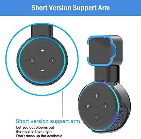 Soporte de montaje en pared Echo Dot, soporte de montaje en pared de salida, accesorios que ahorran espacio para el altavoz inteligente Dot de 3.a generación, accesorios inteligentes Echo Dot con gestión de cables, ocultación de cables desordenados (negro, 2 unidades) 7