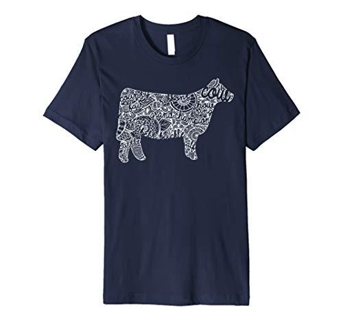 Cow Livestock Show Mandala Shirt - Cattle Beef Stock Show
