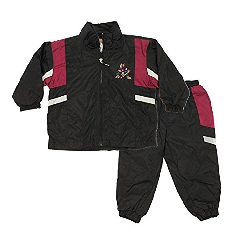 Phoenix Coyotes NHL Little Boys Toddler Retro Jacket & Pants Wind Suit Set, Black