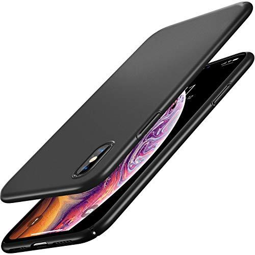 RANVOO iPhone Xs Case, Slim Fit Ultra Thin Hard Plastic Matte Minimalist Basic Cover Anti-Scratch Anti-Fingerprint Case for iPhone Xs 5.8 inch (2018), Black