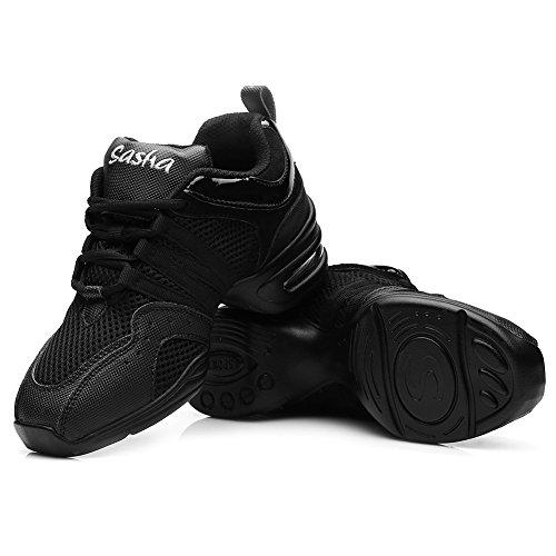 de HIPPOSEUS Malla Mujer Transpirable de Deporte 1 Modelo Superficie Goma Suela de ESB5 Zapatillas Negro CgzYxRnWC
