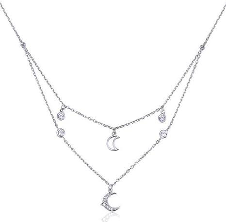 Colgante de plata esterlina 925 con Cadena Collar Joyería Regalo de Navidad mujer
