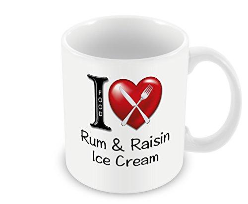 Chalkhill Printing Company CP 704 Food Mug-I Love Rum & Raisin Ice Cream