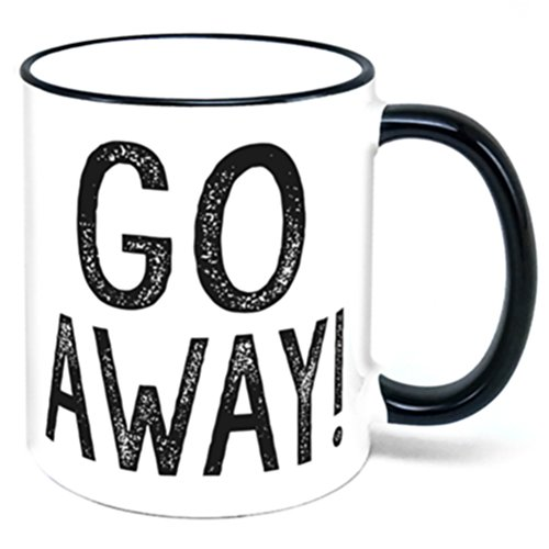 (Go Away Coffee Mug leave me alone )