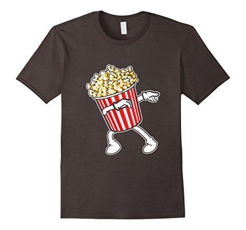 Mens Great Shirt For Kids/Adults. Popcorn Dabbing Costume. Medium Asphalt ()