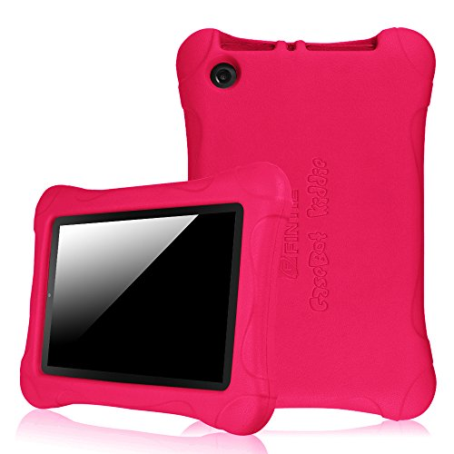 Fintie Shock Proof Case for Amazon Fire (Previous 5th Generation, 2015 7 inch) - Ultra Light Weight Shock Proof Kids Friendly Cover, Magenta