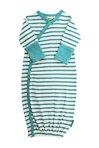 - Parade Organics Kimono Gowns - Signature Prints Breton Stripe Teal 0-3 Months