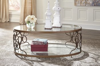 Bronze Coffee Table (Fraloni Oval Cocktail Table Bronze/Traditional)