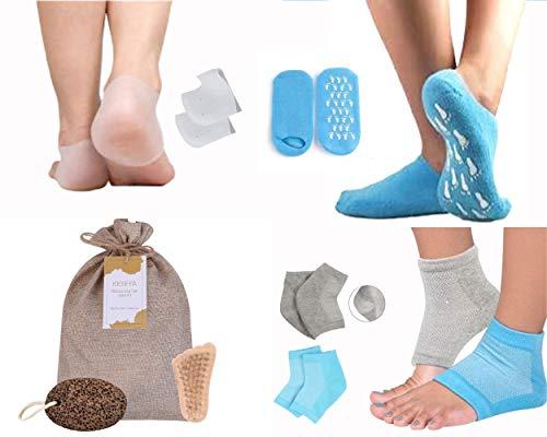 Moisturizing Socks for Cracked Feet Women | Day/Overnight Kit | Includes Heel Socks and Gel Socks for Dry Cracked Feet…