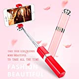 Mini Selfie Stick Bluetooth,Extendable Wireless Bluetooth Selfie Stick monopod Compatible with iPhoneX/8/8P/7/7P/6sPlus, Galaxy S6/S8, Google, Huawei and More