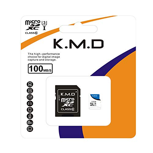 kaimaoda K.M. D Canvas Select 32GB microSDHC Class 10 microSD Memory Card UHS-I 100MB/s R Flash Memory Card with Adapter (32GB)