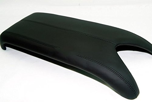 Black Leather Suture Console Lid Armrest Cover for Acura Armrest Cover(Only The Leather Part not include Lid)