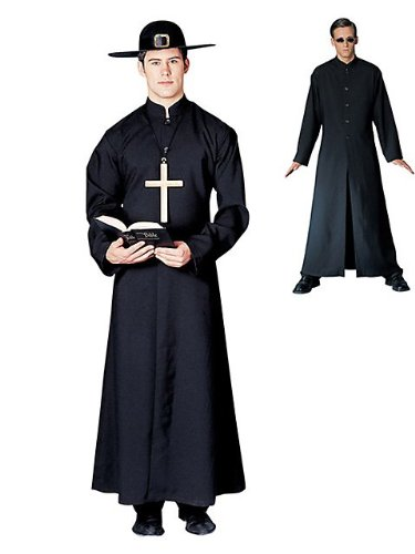 Cyber Man or Priest Costume - Adult Std. (The Matrix Neo Costume)
