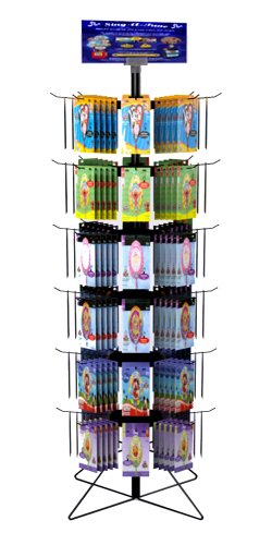Shelving Gondola (Vulcan Industries, 67-36, 48-Hook Spinner Wire Display Rack, 6 Tiers 67