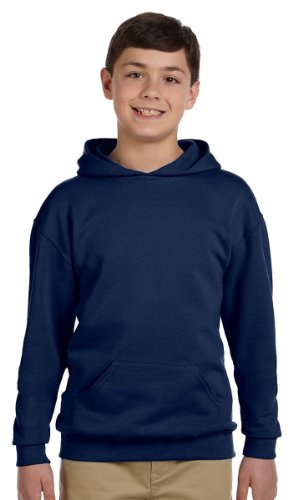 Youth Ash Gym (Jerzees Youth NuBlend Hooded Pullover Sweatshirt, Ash, X-Large)