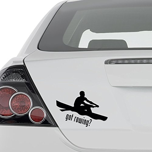 - AAmpco Decals Got Rowing Rowboat Vinyl Decal Sticker - Wall Decor Motorcycle Car Truck Windows Bumper - Size [6 in/15 cm] Wide Color- Gloss White