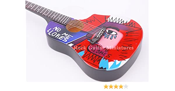 RGM694 Chris Martin Coldplay No Me Llore Guitarra en miñatura ...
