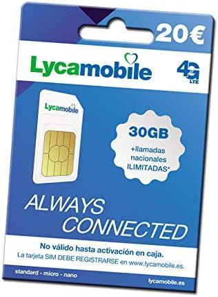 Tarjeta SIM prepago Lycamobile: Amazon.es: Electrónica