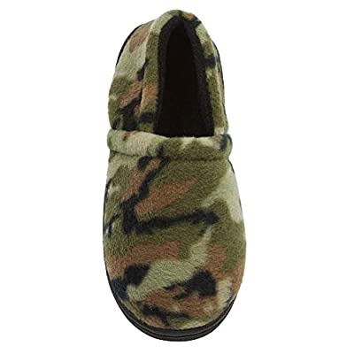 Skysole Boys Fleece Closed Back Slipper With Rugged Outsole