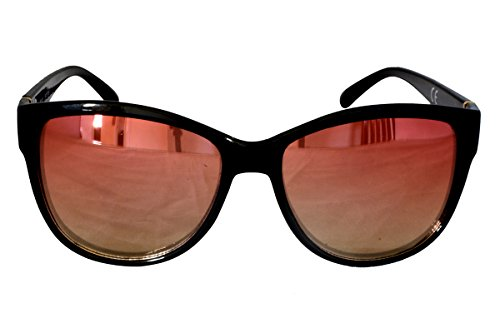 Foster Grant FG4 Women's Rounded Square Style Sunglasses Plastic Frame CAT 2 (Rounded Sunglasses Black)