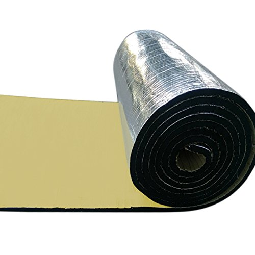 uxcell 197mil 6.4sqft Car Auto Exhaust Muffler Heat Sound Deadener Insulation Mat Pad Waterproof 40'' x 24'' by uxcell