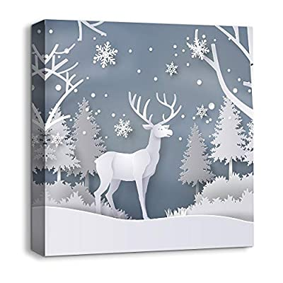 Magical Winter Deer - Canvas Art