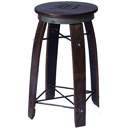 Amazoncom 24 Daisy Swivel Stave Stool Made From Wine Barrels
