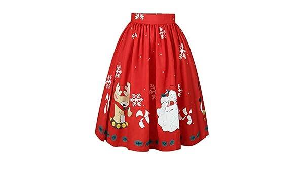 7ffd22c5c816 WUAI Christmas Elegant Dress, Clearance Women's Sexy Christmas Skirt ...