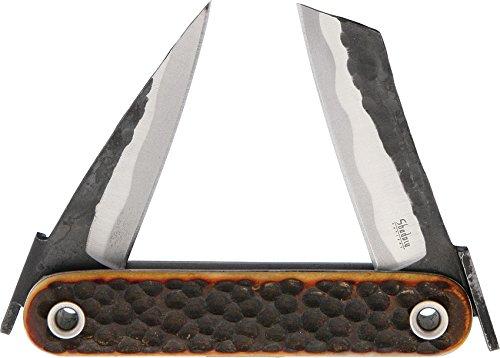 Shadow Cutlery ダブル和式折りたたみナイフ – 古代赤骨 0.3ポンド B01CKLGIWK
