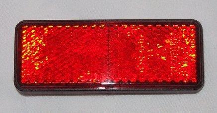 catadioptre rouge longueur 84 mm largeur 30 mm pour les motos, les quads, les scooters et les vé los les scooters et les vélos generique